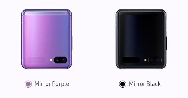 Z Flip color variants