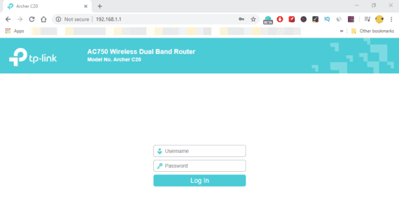 Login to your Wifi router