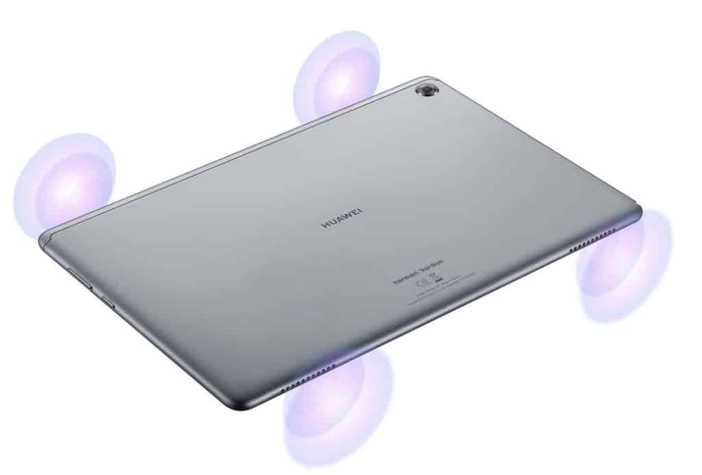 Huawei MediaPad M5 lite Quad speakers