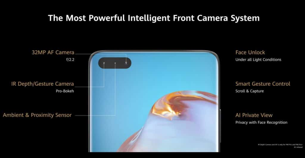 Huawei P40 front camera