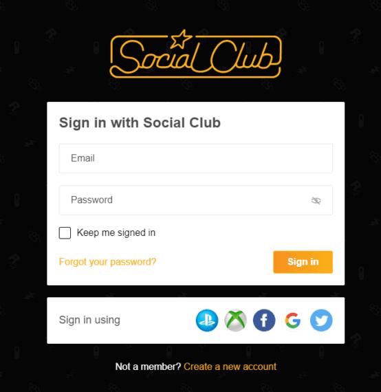 Social Club Login