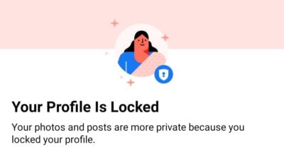 Facebook Profile Lock