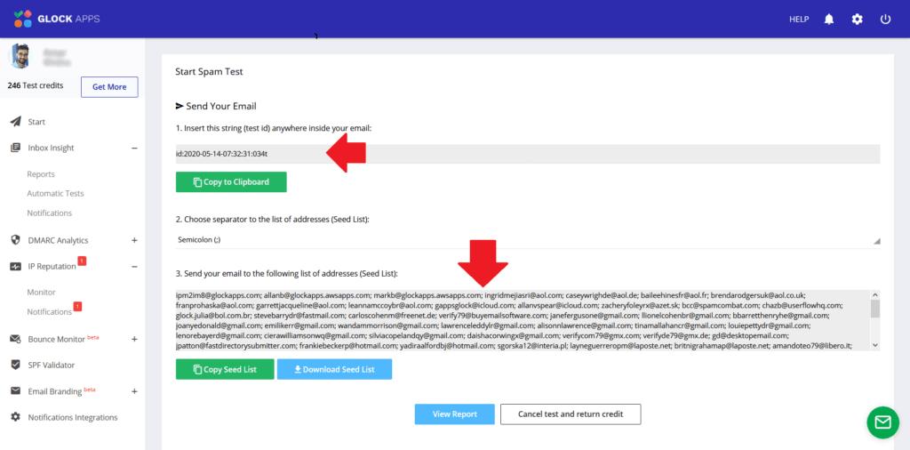 GlockApps Inbox Insight Email