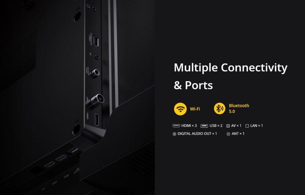 Realme TV connectivity options