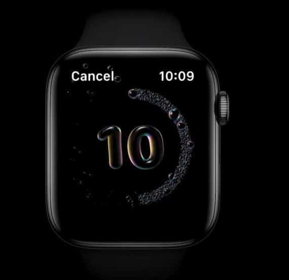 Apple Watch Handwash timmer