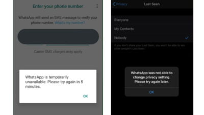 WhatsApp Glitches