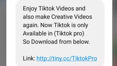 TiKTok forwaded message