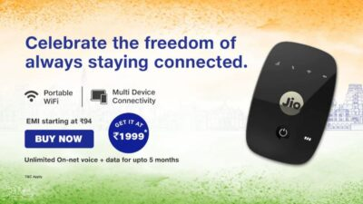 Jio independence day offer