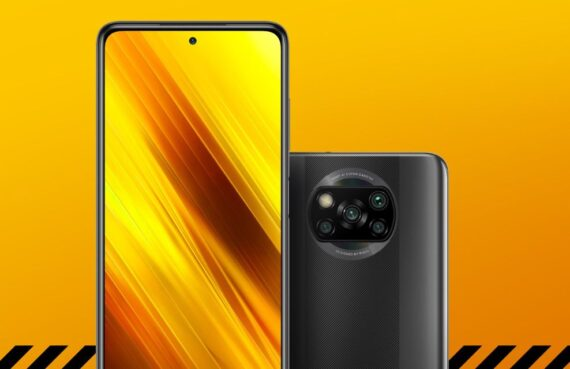 Poco X3 front and back