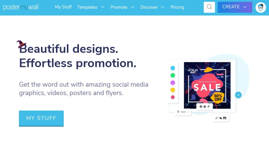 PosterMyWall Review - Beautiful Design