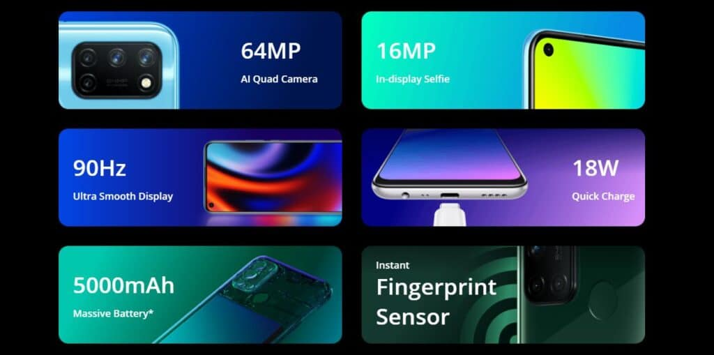 Realme 7i features