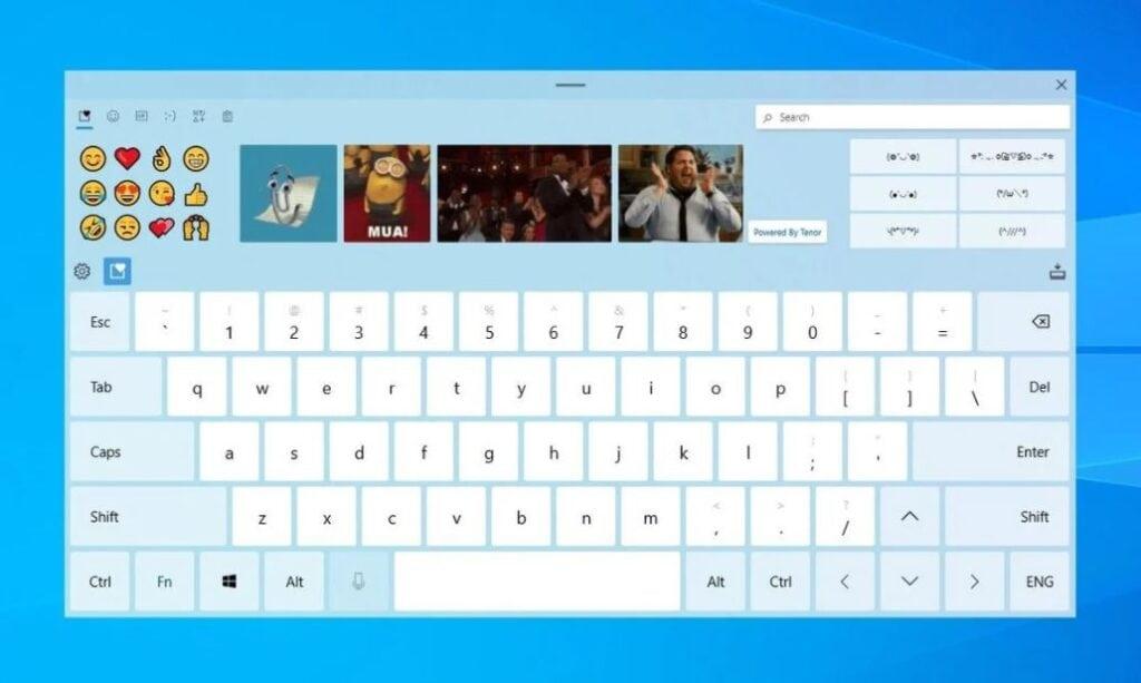 Windows 10 redesinged keyboard