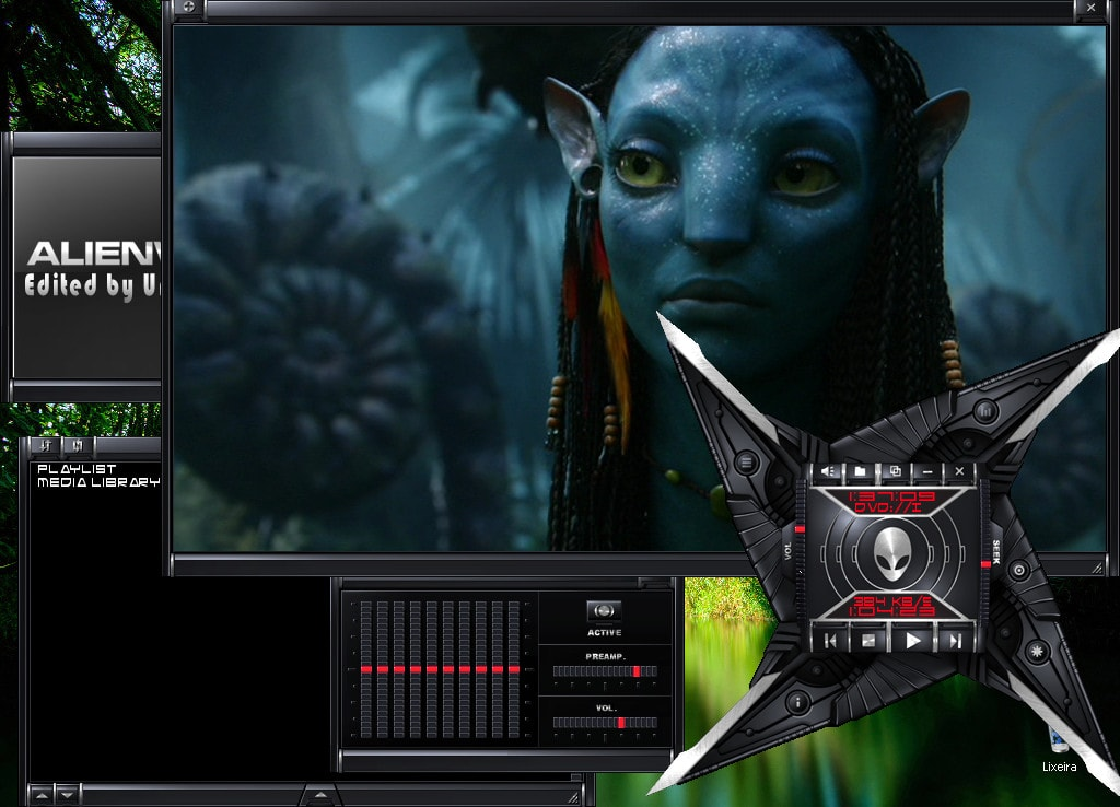 Alienware Darkstar VLC Skin - Best VLC Media Player Skins