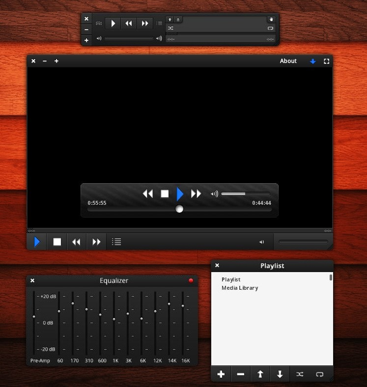 Orion by RoshinRocks - Best VLC Themes for VLC Media Player