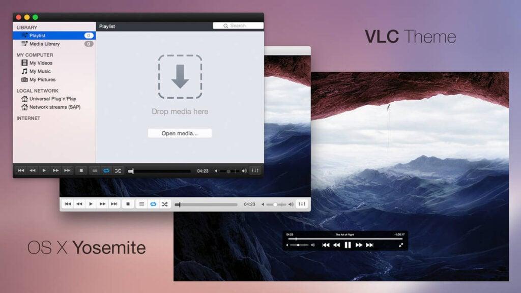 OS X Yosemite VLC Skin - Best VLC Skins