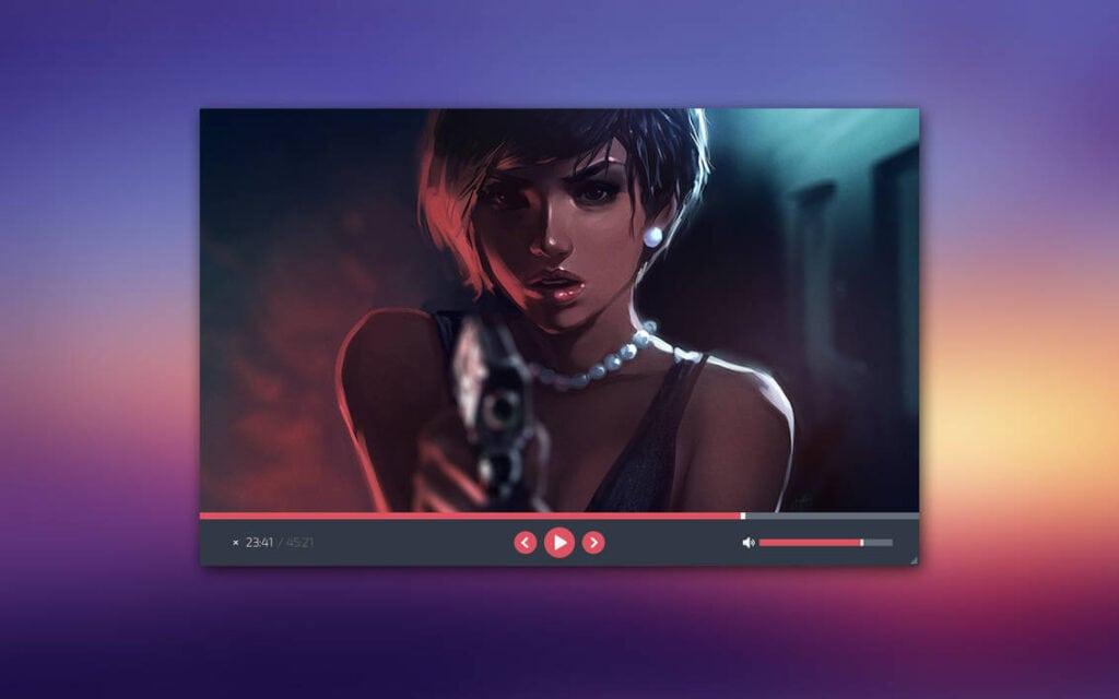 Skyfire by Rasvob - Best VLC Skins for VLC