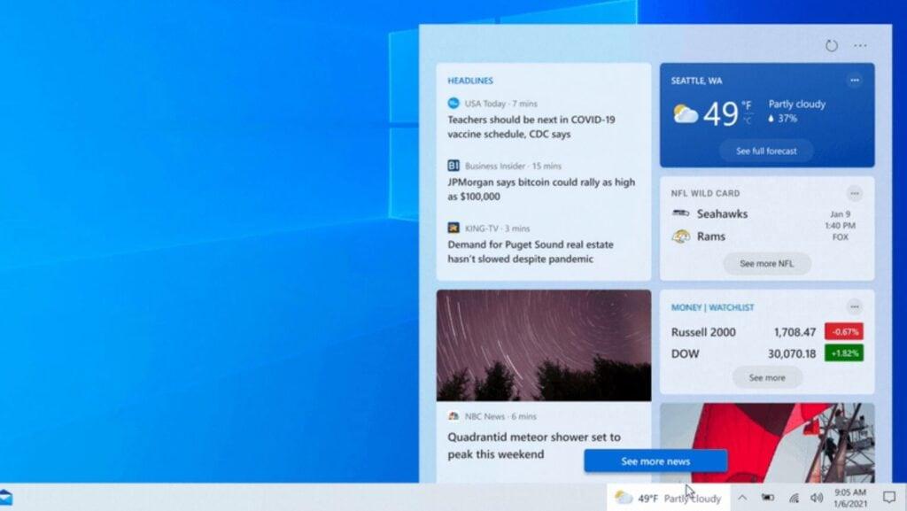Windows 10 new taskbar