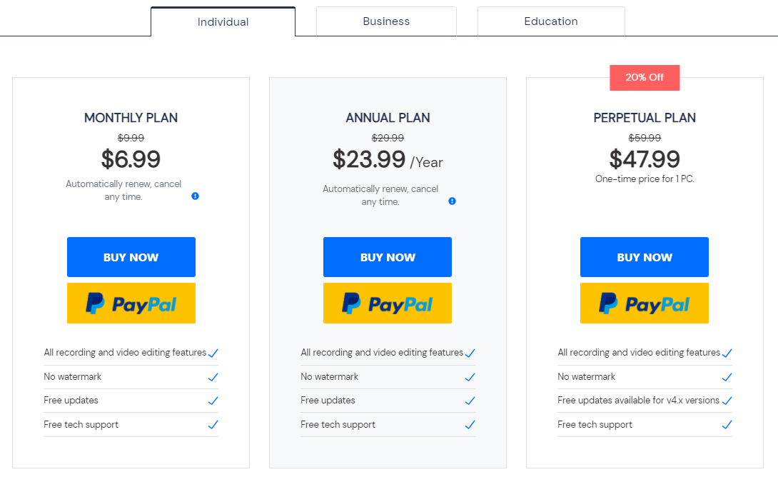 DemoCreator Pricing