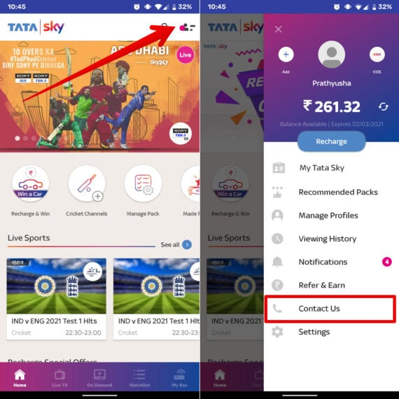 Contact Us - Tata Sky Temporary Account Suspension