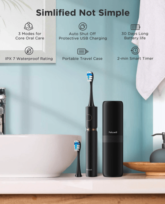 Fairywill Pro P11 Ultrasonic Toothbrush Features