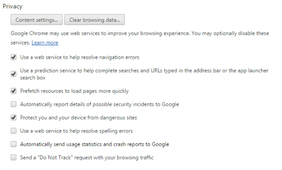 clear browsing data in browser