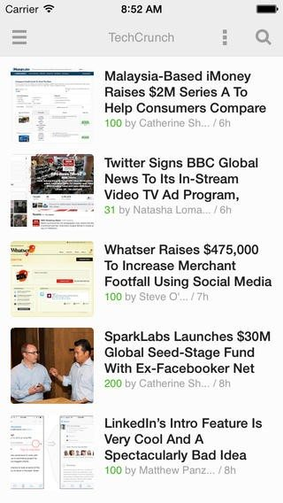 Feedly mobile app