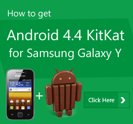 Android 4.4 Kitkat for galaxy y