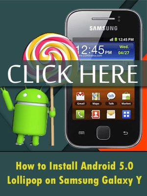 Android 5.0 lollipop for Samsung Galaxy Y