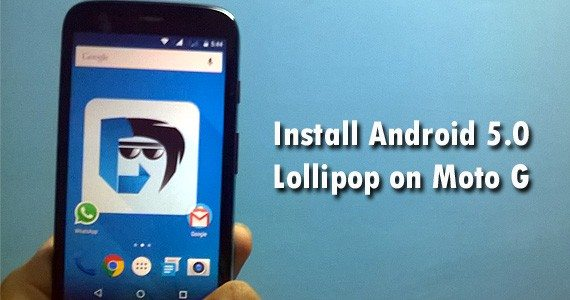 Android Lollipop on Moto G