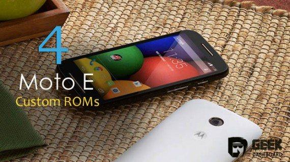 4 Best Custom ROMs for Motorola Moto E