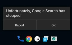 how to fix Google Search has stopped working error