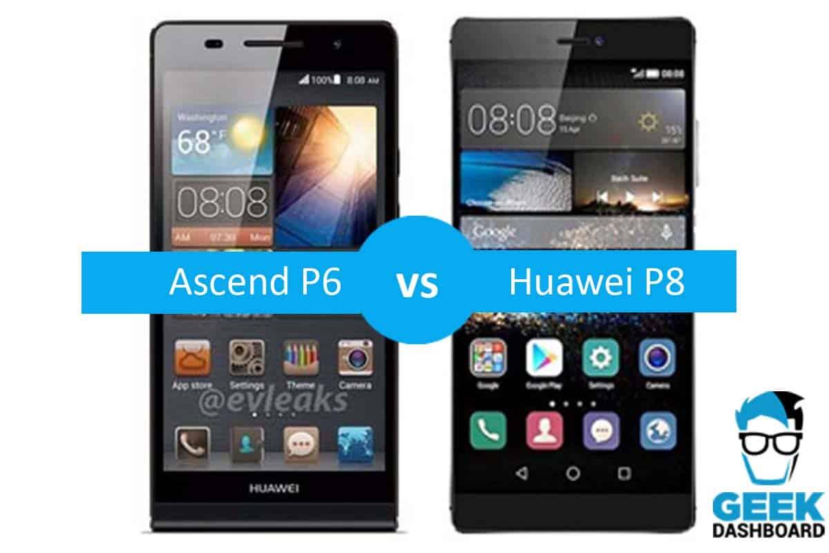 Huawei Ascend P6 vs Huawei P8 Comparison