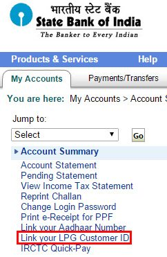 Link your LPG Customer ID