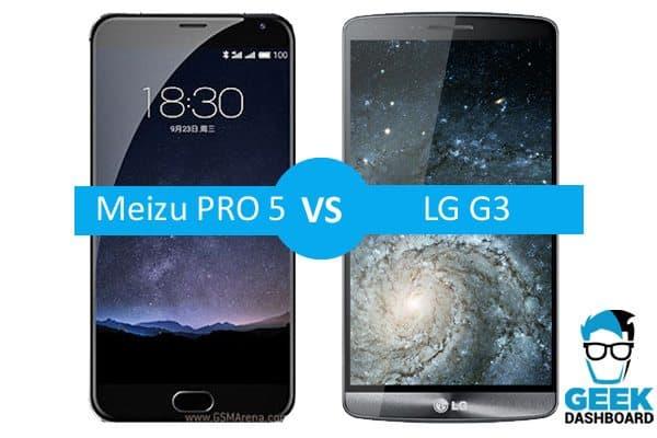 Meizu PRO 5 vs LG G3 Comparison