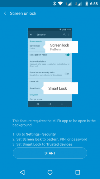 Smart Lock feature in Mi Band