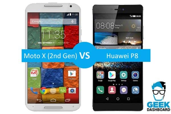 Moto X (2nd Gen) vs Huawei P8