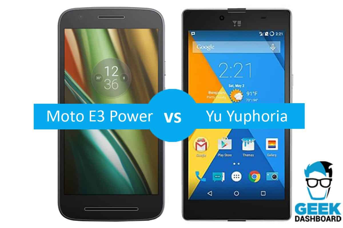 Motorola Moto E3 Power vs Micromax Yu Yuphoria Comparison