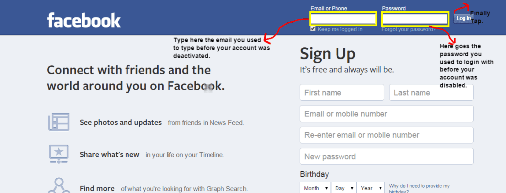 Reactivate Facebook Disabled Account That Was Locked By You