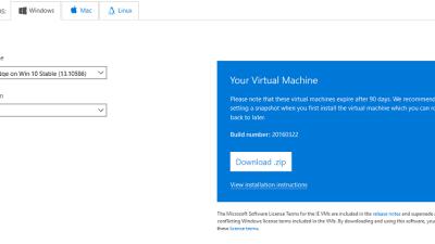 Step 4 - Run Microsoft Edge Browser on WIndows 7