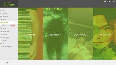 TunesGo software for transferring files