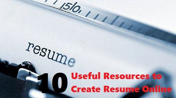 useful resources to create resume online