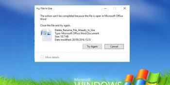 Windows File In Use Error