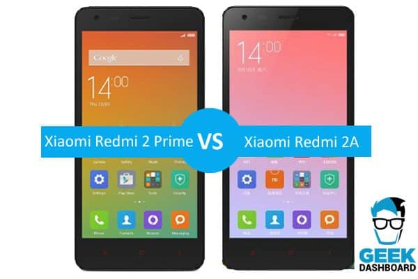 Xiaomi Redmi 2a Vs Xiaomi Redmi 2 Prime Comparison