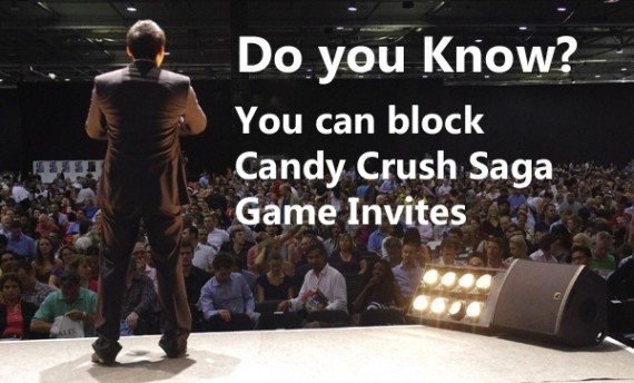 how to block candy crush saga game request in android