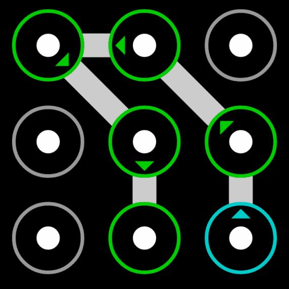 simple yet complex pattern locks ideas using 6 dots