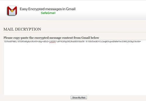 read encrypted email in gmail