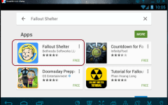 fallout shelter for PC using dorid4x