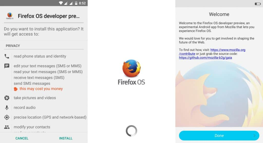 Install Firefox Developer Preview
