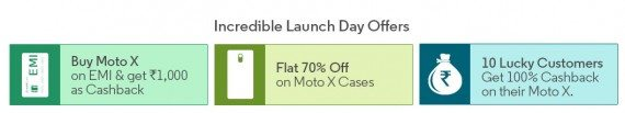 flipkart moto x launch day offers