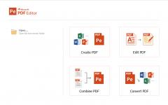 iSkysoft PDF Editor Dashboard